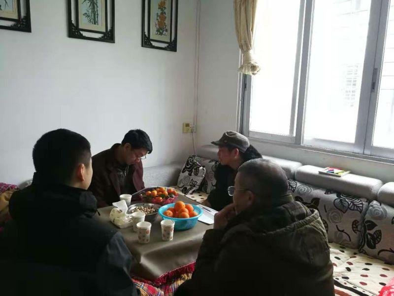 县组织部领导到我校开展春节走访慰问困难党员活动