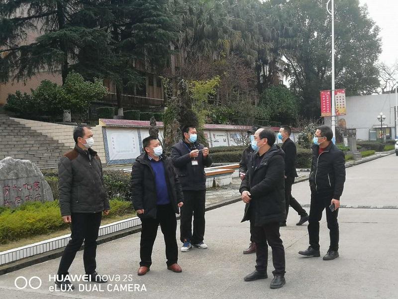 兴安县教育局局长到兴安中学督查新冠肺炎疫情防控工作
