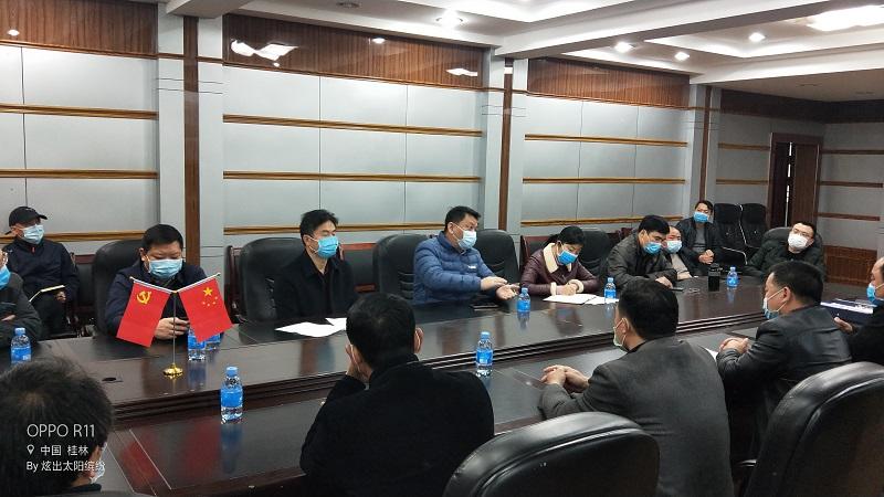 县长黄钦到兴安中学检查疫情防控及复学准备工作