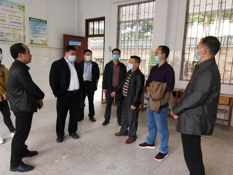 桂林市督查组到兴安中学对新冠肺炎防控和复学准备工作开展专项督查