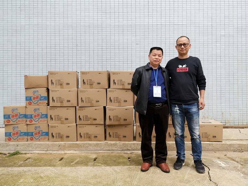 超赞!桂林星灿商贸有限公司到兴安中学捐赠防控物资